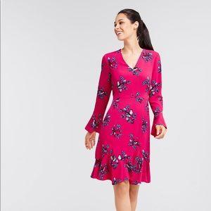 NWT Draper James pink magnolia mockingbird dress